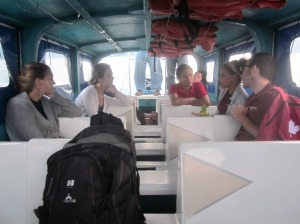 On the boat back to Panajachel after a long day in San Pedro La Laguna
